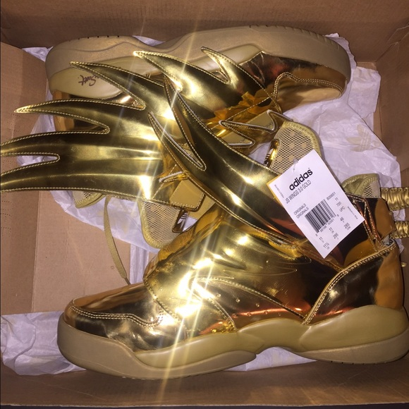 9cc52a7a25e7 Adidas Originals X JS Jeremy Scott Wings 3.0 Metallic Gold Men Size ...