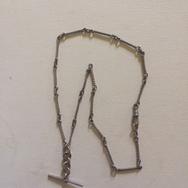 Antique 1800's Sterling Silver Necklace