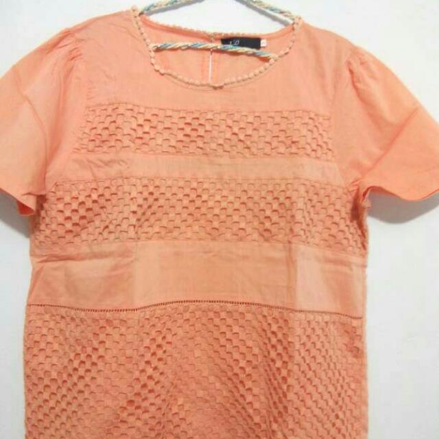 Atasan/Blouse Wanita Import - Orange