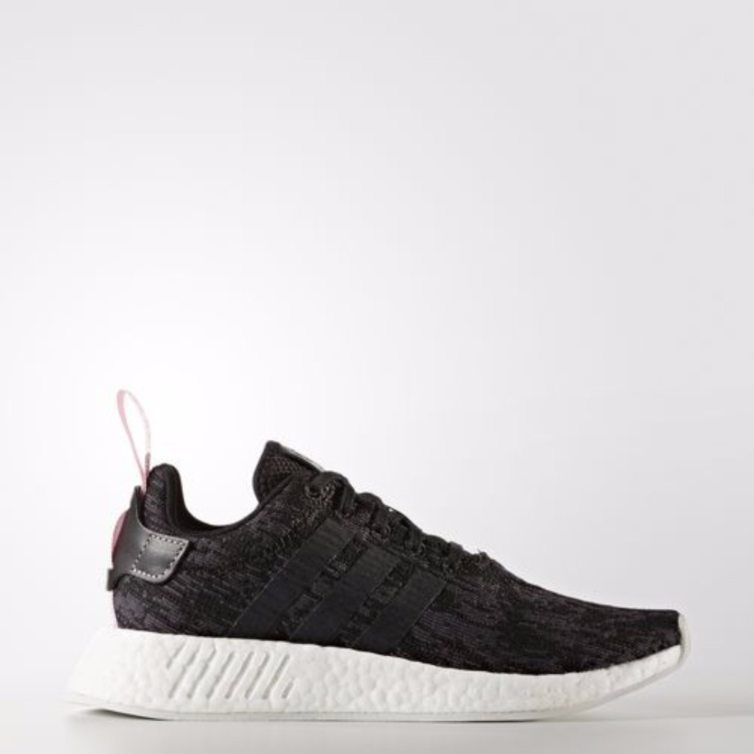 efd76ed3d7a08 Authentic Adidas WOMEN ORIGINALS NMD R2 (Core Black White Wonder ...