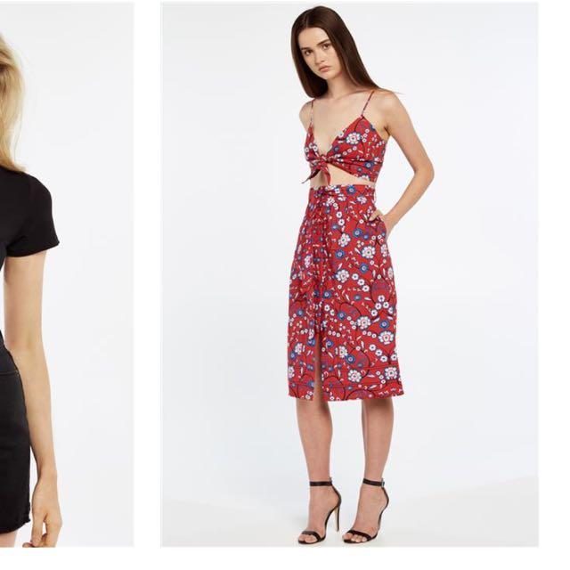 Bardot Cami+skirt Set