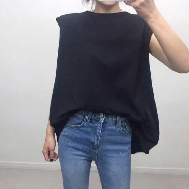 Black Bow Back Tee