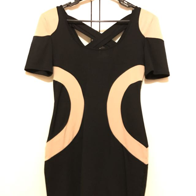 Black Cream Dress Size 8