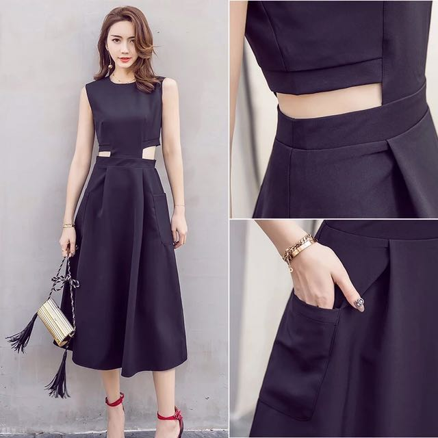 Black Dress With Pocket