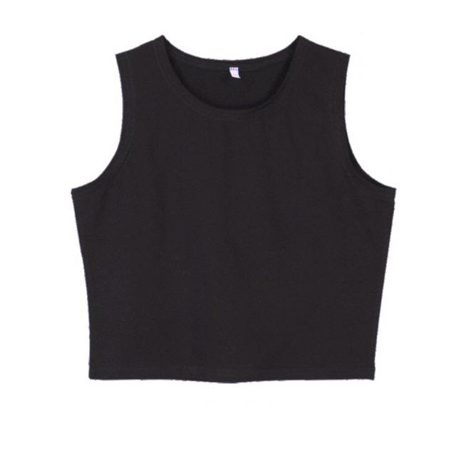 Black Small Crop Top