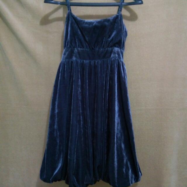 Black Velvet Cocktail Dress