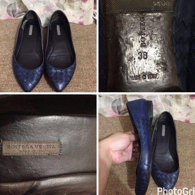 Bottega Venetta Flat Shoes Authentic