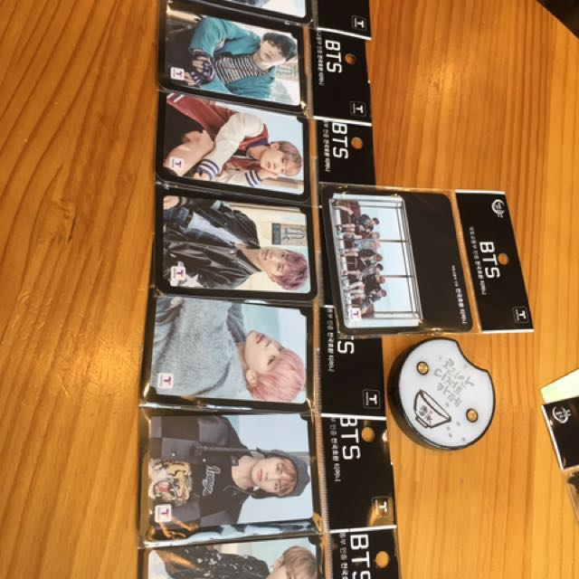 BTS members T money card。Ready stock
