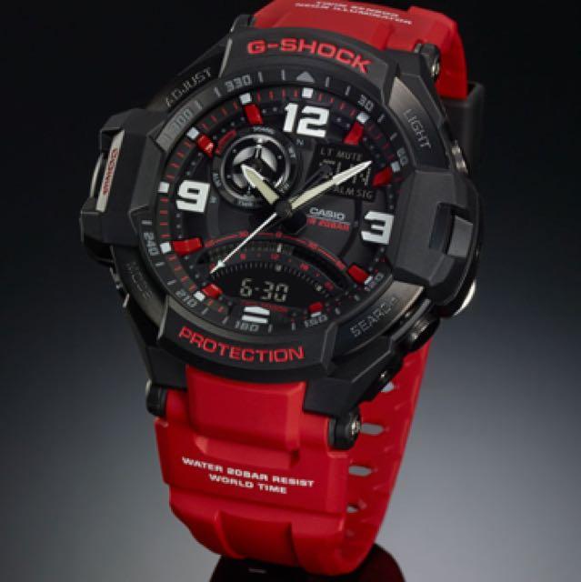 Casio G-Shock GA1000 Red Watch