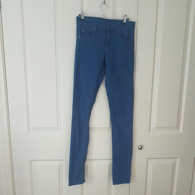 Cheap Monday High Waisted Blue Denim Jeans Size 26inch Waist