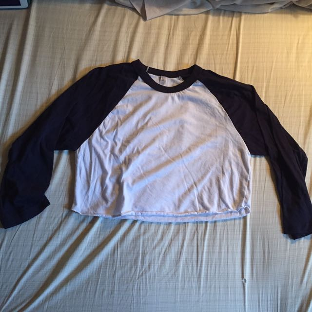 Cropped Baseball Tee From American Apparel