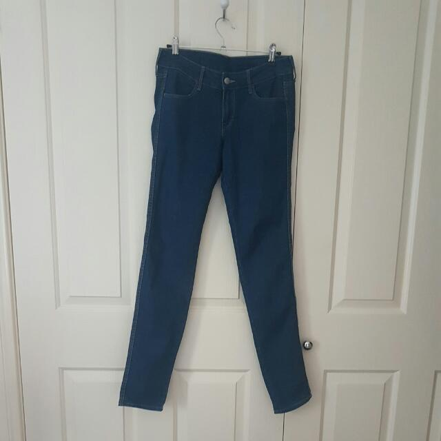Dark Blue Denim Jeans Size 28inch Waist