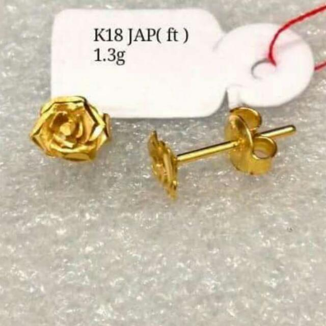 earrings 18k JapanGold