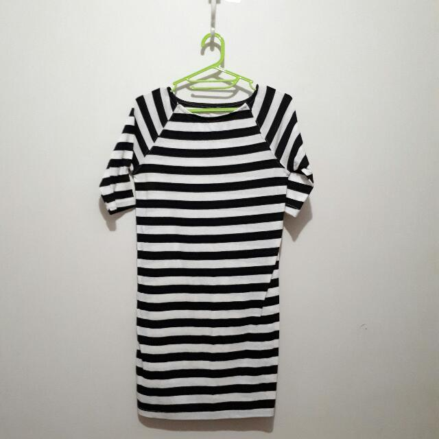 Fitted Stripes Dress