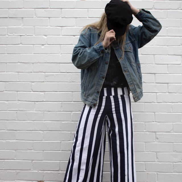 Flared Stripped Vintage Pants