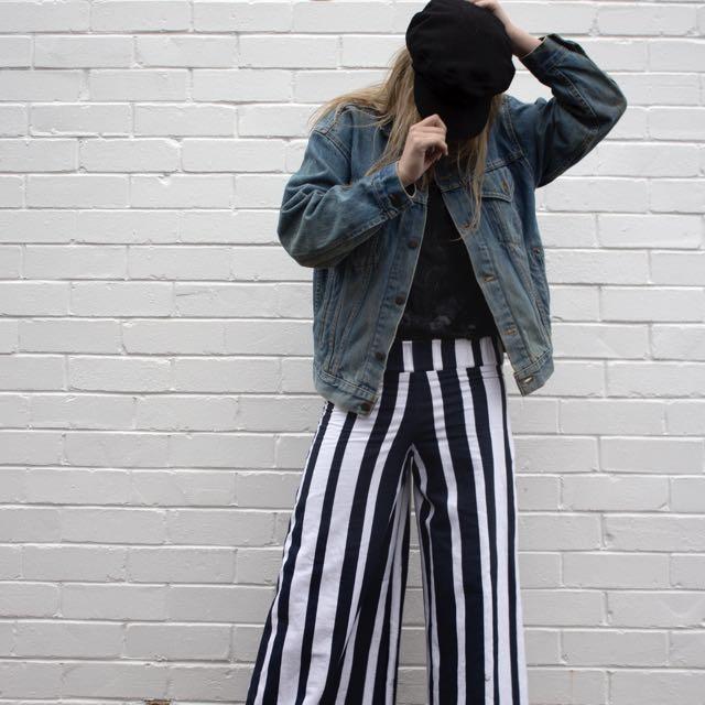 Flared Stripped Vintage Pants