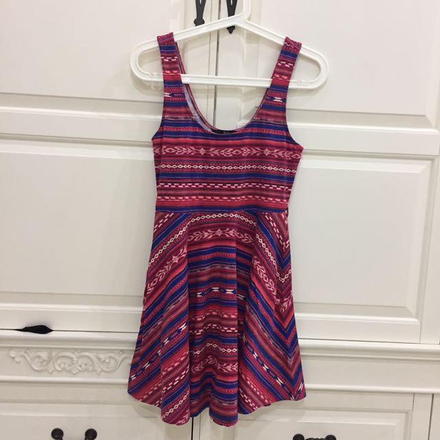 FOREVER21 tribal pattern dress