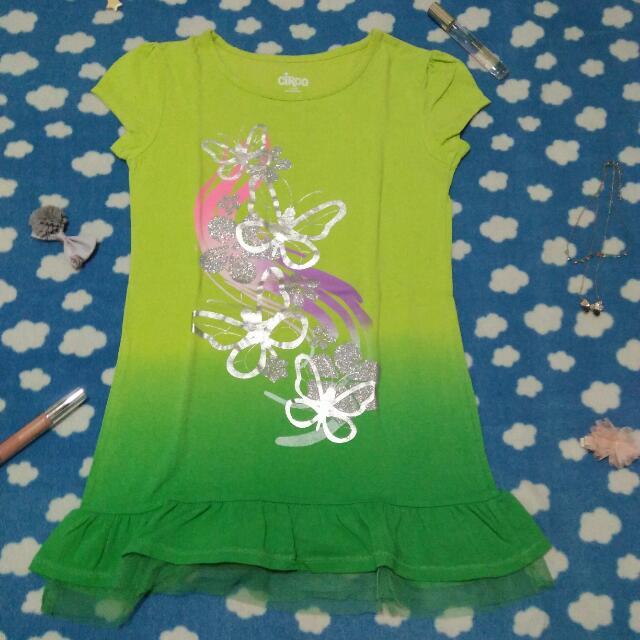 Green Ombre Butterfly Shirt