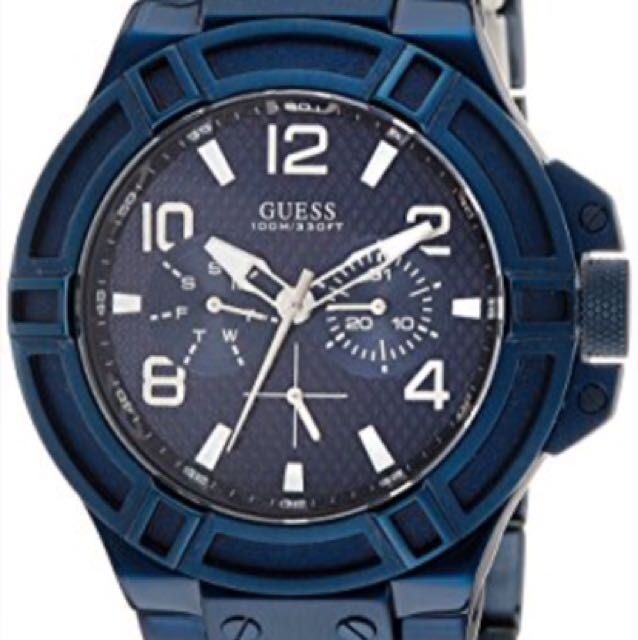 Guess Blue Stainless Analog Men's Watch