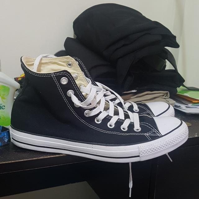 High Cut Converse (Black) Size 9