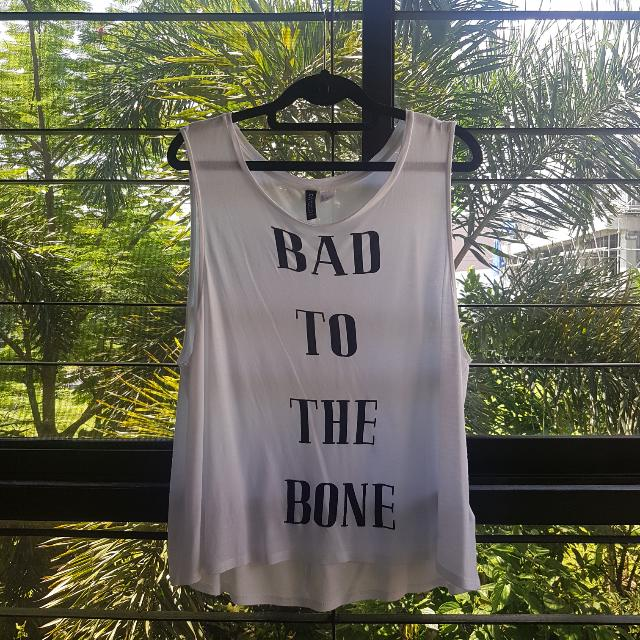 H&M Divided Bad To The Bone Muscle Tee