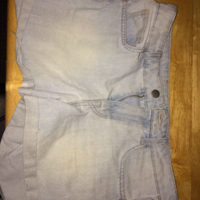 H&M Light Washed Denim Shorts