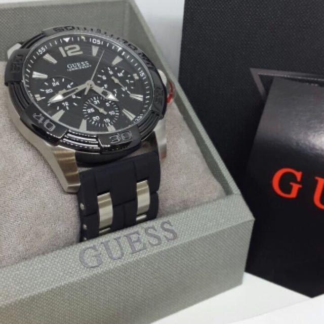 ... Black Silver Source · Jam Tangan Pria Guess Original W0366G1 Olshop  Fashion Olshop Pria on Carousell cdac46a55b