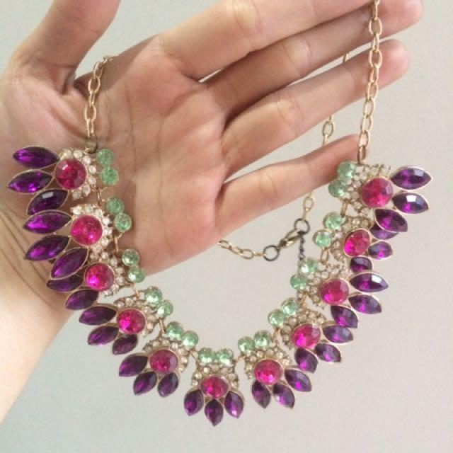 Kalung Diamanté Pink