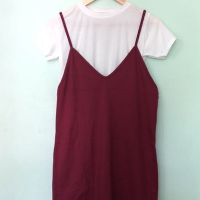 Korean Dress In Maroon