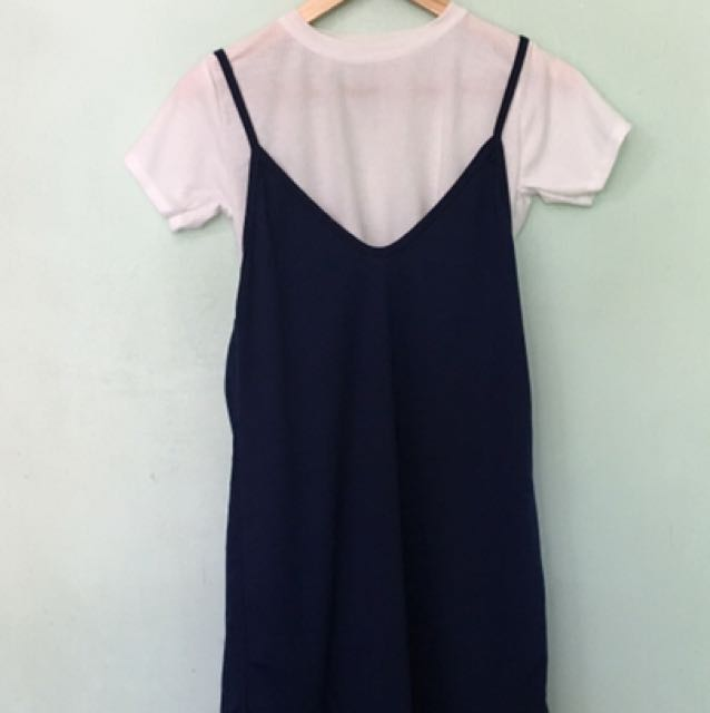 Korean Dress In Navy Bluw