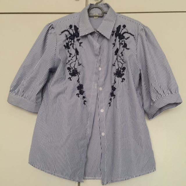 Korean Trendy Top with Embroidery Accent
