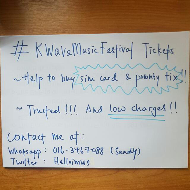 KWaveFestival In KL tickets!!