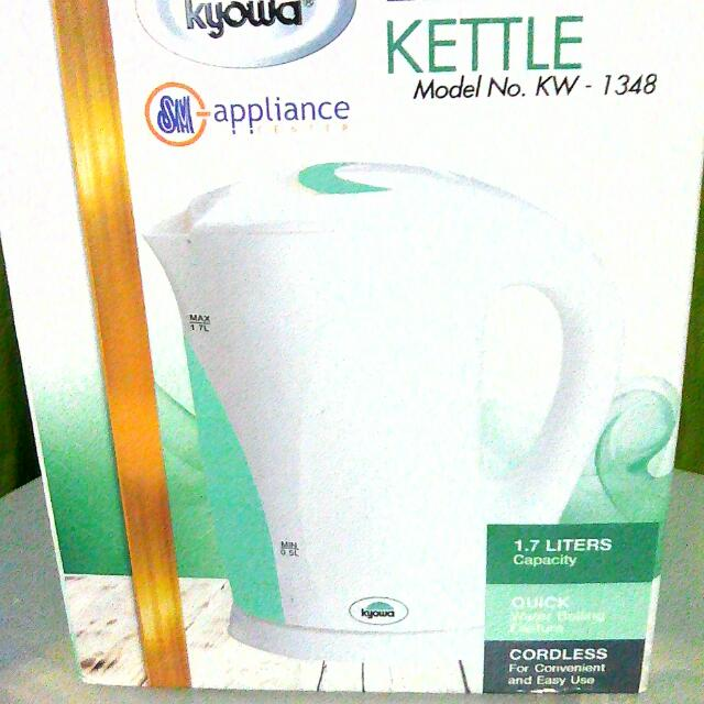 Kyowa Elec Kettle 1.7L Model KW 1348