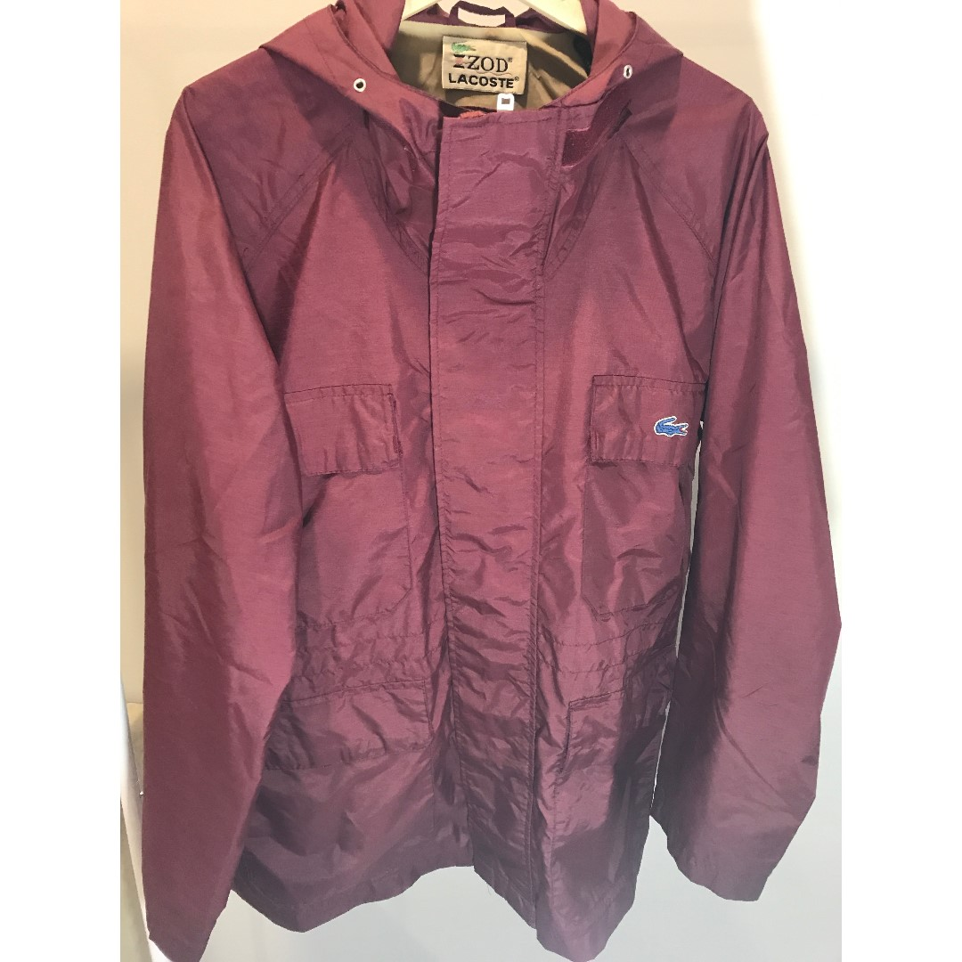 Lacoste Burgandy Trench Jacket