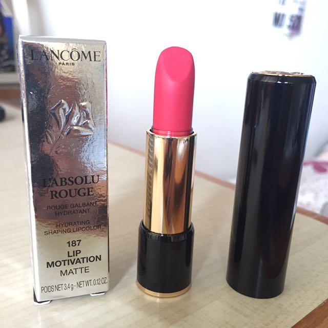 cec81e79b9e6 Lancome L'Absolu Rouge Matte in 187 Lip Motivation, Health & Beauty ...