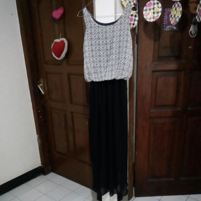 Long dress up to L karet pinggang