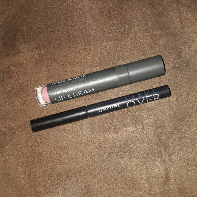 Make Over Eyeliner Black + Mineral Botanica Shade 002 Champange Pop