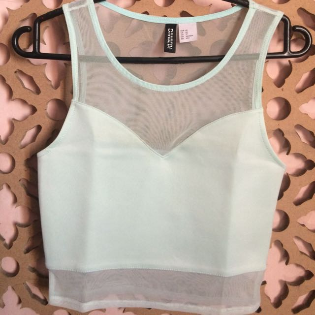 Mesh Crop Top Divided Hnm