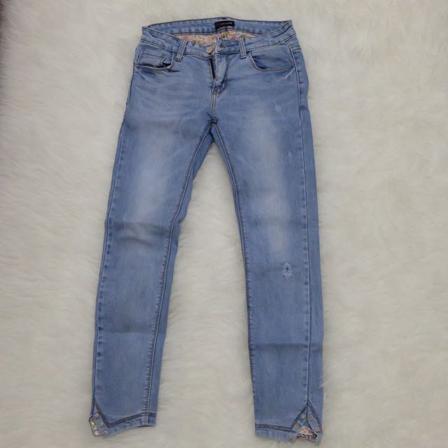Mini Ripped Jeans Fit Size27