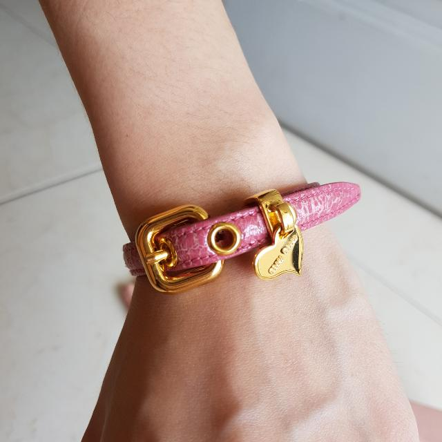 b186e0c4317 Miu Leather Bracelet Luxury Accessories On Carousell ...