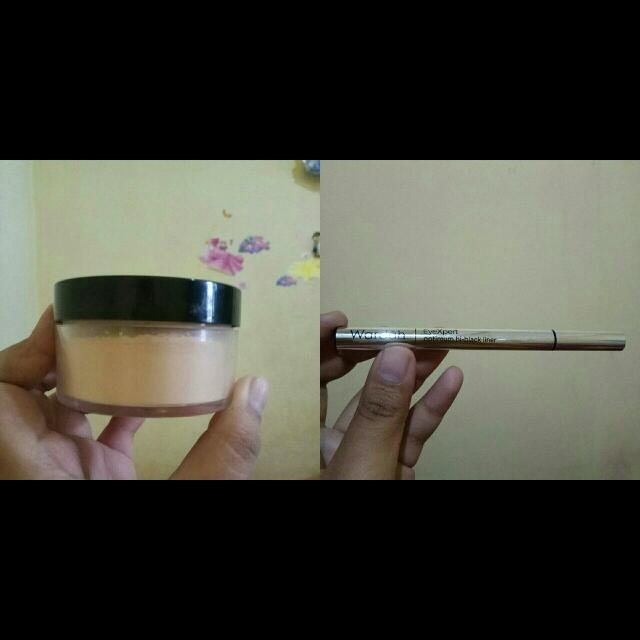 MURAH! Makeover Translucent Powder + Eyeliner Pen Wardah