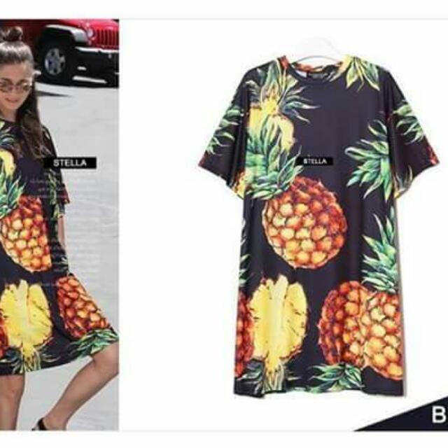💕New Arrival DG Inspired Pineapple Dress Blouse💕