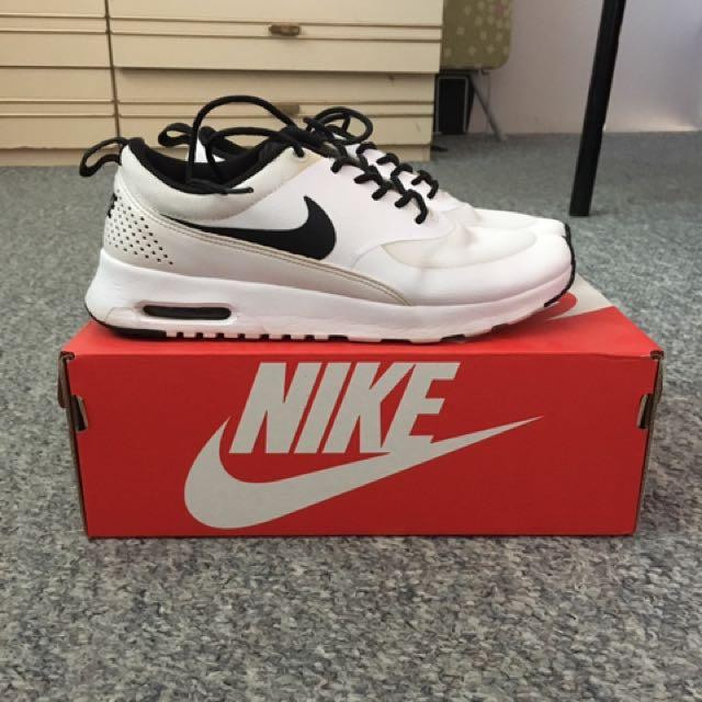 Nike Air Max Thea White Black Laces, Women's Fashion, Shoes