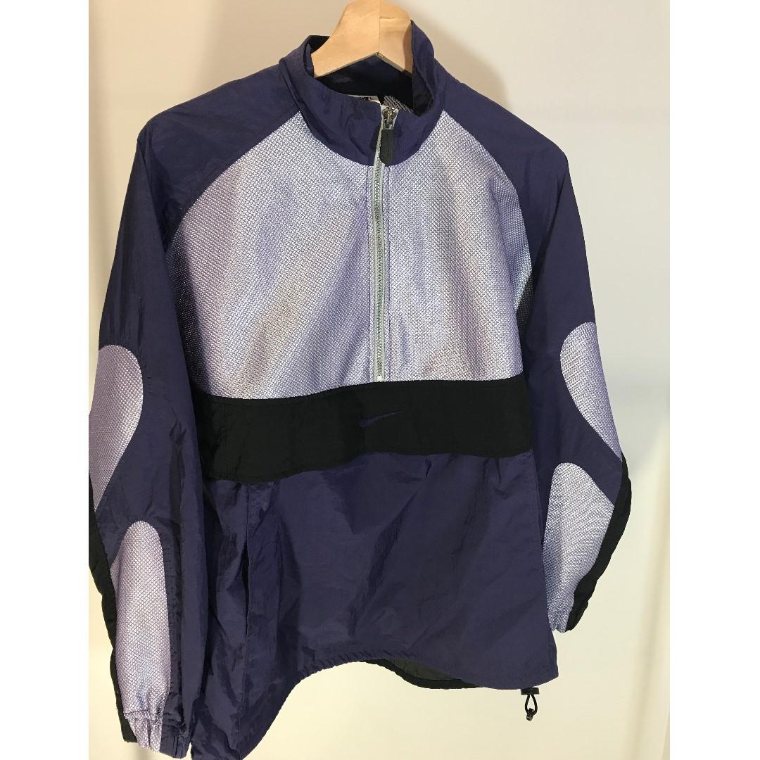 Nike purple Half zip windbreaker