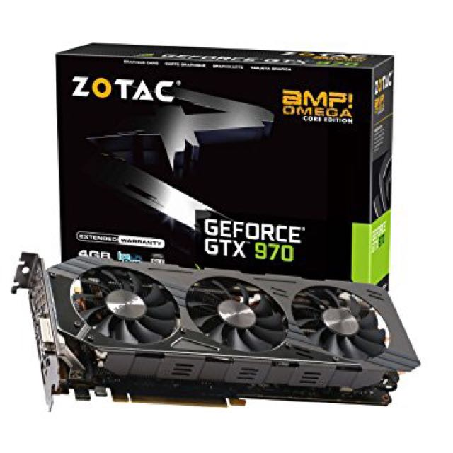 Nvidia GeForce GTX 970 Zotac AMP Omega Core 4GB Edition