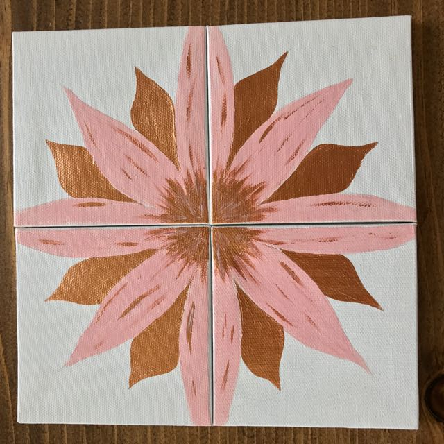 Pink And Gold Flower