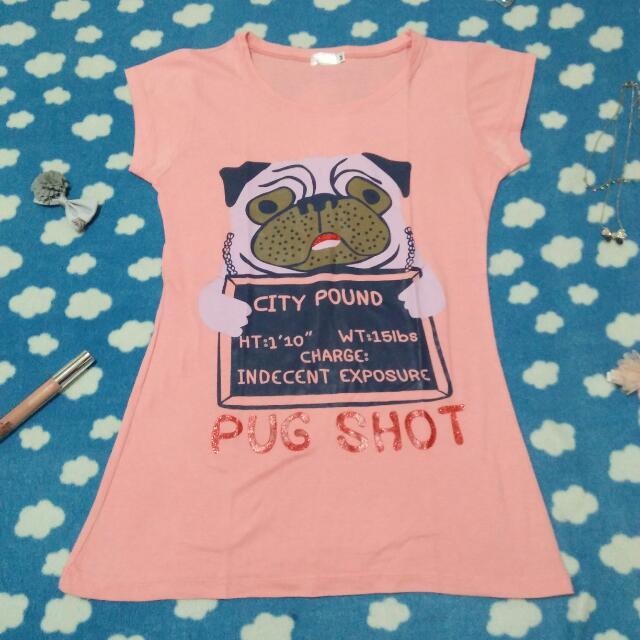 Pink Pug Shot Shirt