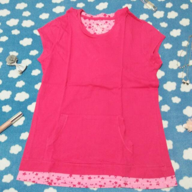 Pink Stars Hoodie Shirt