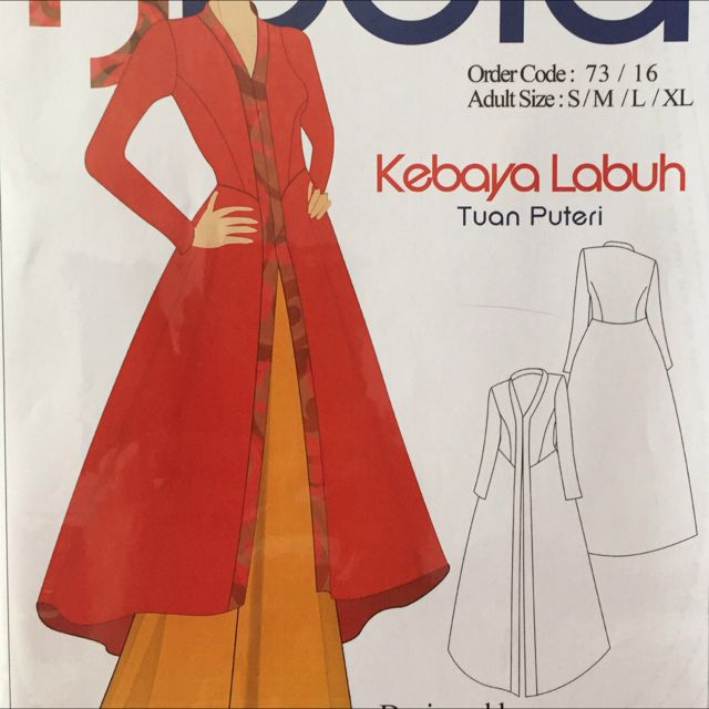 Pola Jahitan Kebaya Labuh Tuan Puteri Design Craft Craft