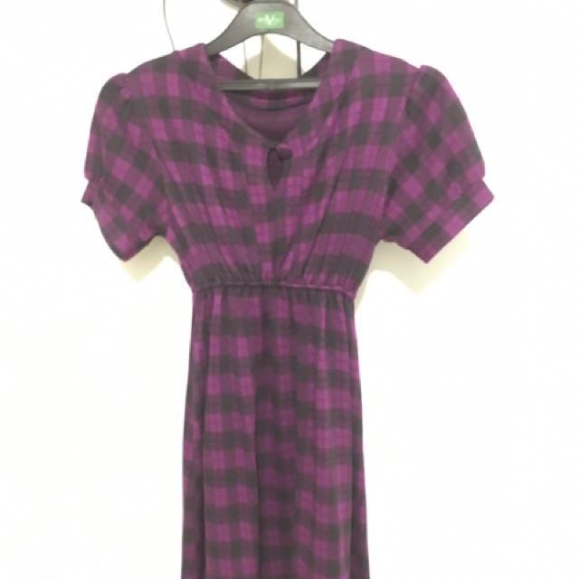 Purple Baby Doll Dress